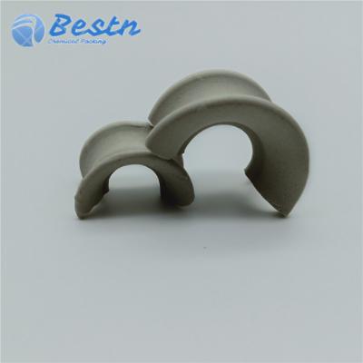 25mm陶瓷矩鞍环 矩鞍环填料 陶瓷散堆填料,零部件产品,塔内件,塔填料,鞍形环