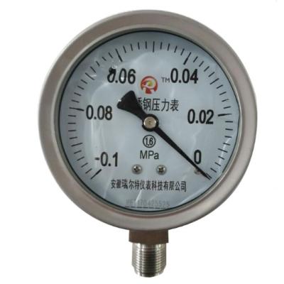RET/瑞尔特 不锈钢耐震压力表 YTFN-40H/M10/304外壳/2.5级 1个
