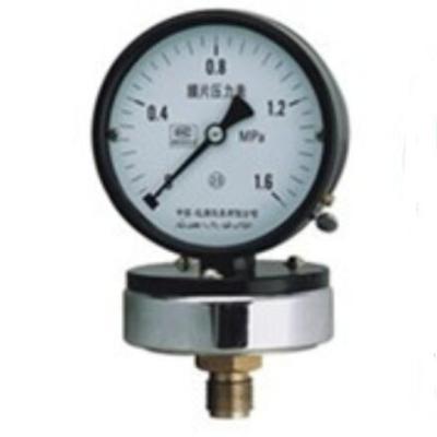 RET/瑞尔特 普通膜片压力表 YPF-150/M20/铸铝外壳/不锈钢膜片/不耐震/2.5级 1个