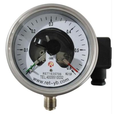 RET/瑞尔特 不锈钢耐震电接点压力表 YXCN-150HZT/轴向前带边/全不锈钢 /M20/1.6级 1个,仪器仪表,压力过控/检测,压力表,150mm,轴向前带边,M20*1.5,0~0.1MPa,0~0.16MPa,0~0.25MPa,0~0.4MPa,0~0.6MPa,0~1MPa,0~1.6MPa,0~2.5MPa,0~4MPa,0~6MPa,0~10MPa,0~16MPa,0~25MPa,0~40MPa,0~60MPa,-0.1~0MPa,-0.1~0.06MPa,-0.1~0.15MPa,-0.1~0.3MPa,-0.1~0.5MPa,-0.1~0.9MPa,-0.1~1.5MPa,-0.1~2.4MPa