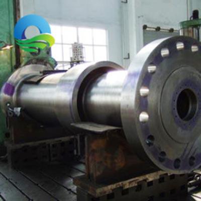 河南大型机械厂外协加工代加工大型锻钢水轮机法兰主轴加工定做,零部件产品,传动件,轴,乾川,,,