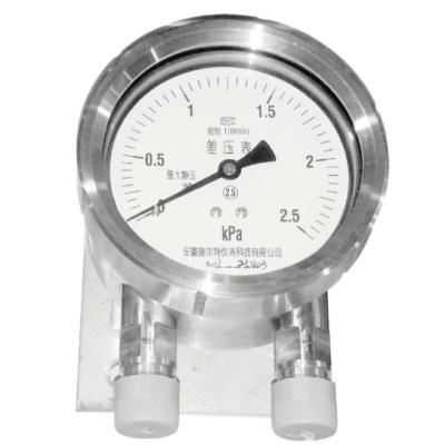 RET/瑞尔特 不锈钢差压表 CY-100HII/平行型不带边/全不锈钢 /M20/2.5级 1个